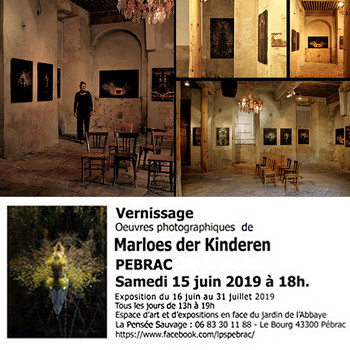 2019   June 16 -  July 31  extended untill november at LE PENSEE SAUVAGE  Centre d Art a Pebrac, Auvergne Rhone-Alpe savec mon serie Water On Edge